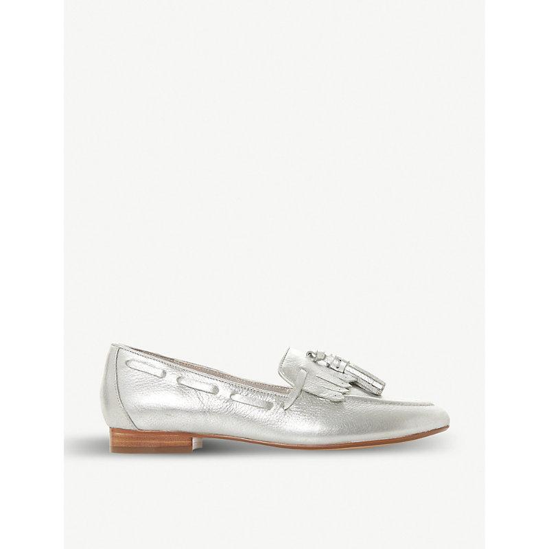 DUNE Gianni metallic tassel loafers