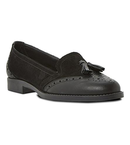 DUNE Lyncoln tassel loafers (Black-suede