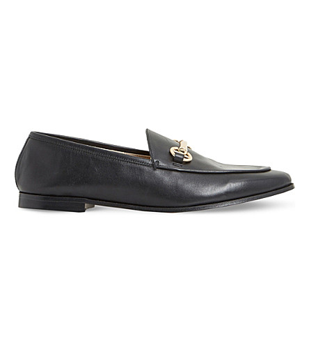 DUNE Guilt metal-trim leather loafers (Black-leather