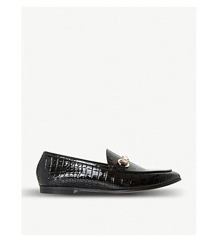 DUNE Guilt metal-trim leather loafers (Black-croc