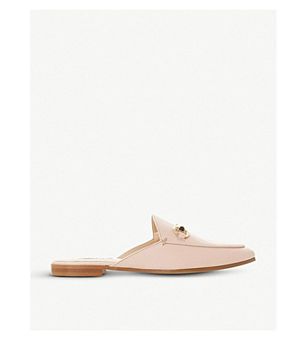 Gene backless leather loafers
