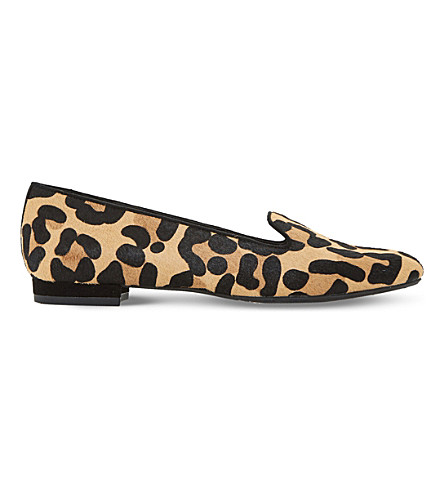 DUNE Gracious leopard-print loafers (Leopard-pony