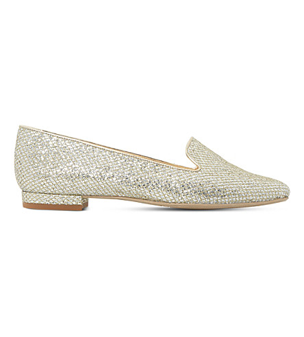 DUNE Gracious metallic loafers (Multi-metallic+fabric