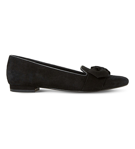 DUNE Graciano suede slippers (Black-suede
