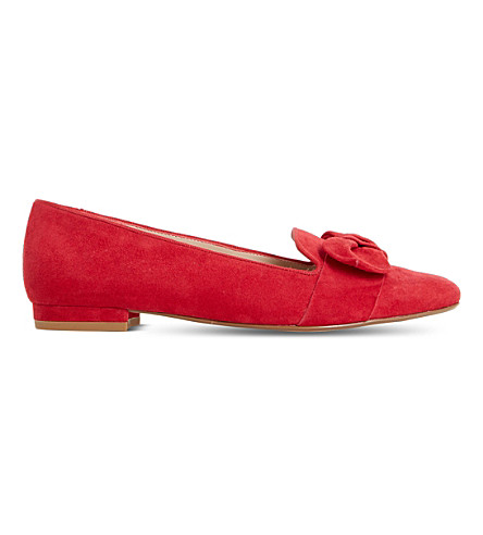 DUNE Graciano suede slippers (Red-suede