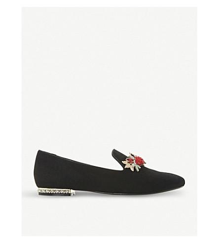 DUNE Galleria suede loafers (Black-suede
