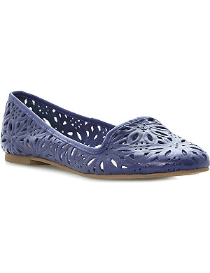 DUNE Londres laser-cut leather pumps