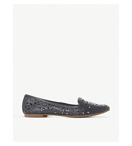 Galatia floral laser-cut leather loafers