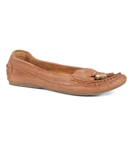 DUNE Limor suede loafers (Tan-leather