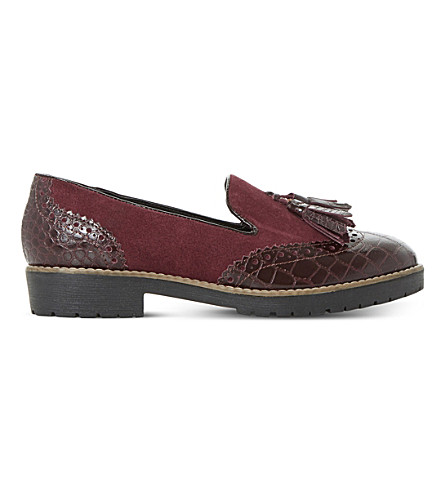 DUNE Giorgia leather loafers (Burgundy-leather