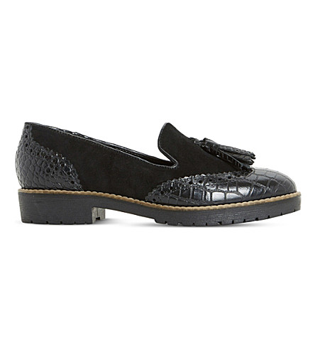 DUNE Giorgia leather loafers (Black-leather+mix