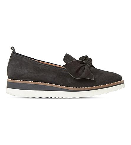 DUNE Gardinia suede flatform loafers (Black-suede