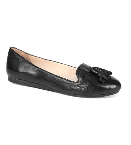 DUNE Longacres leather tassel slippers (Black-leather