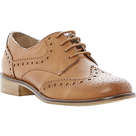 DUNE Langbury leather brogues (Tan-leather