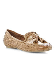 DUNE Lasso woven leather slippers