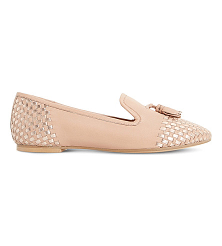 DUNE Gentle woven leather loafers (Blush-leather