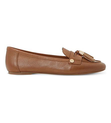 DUNE Gondola tassel trim leather loafers