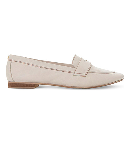 DUNE Galer slip-on leather loafer (Nude-leather