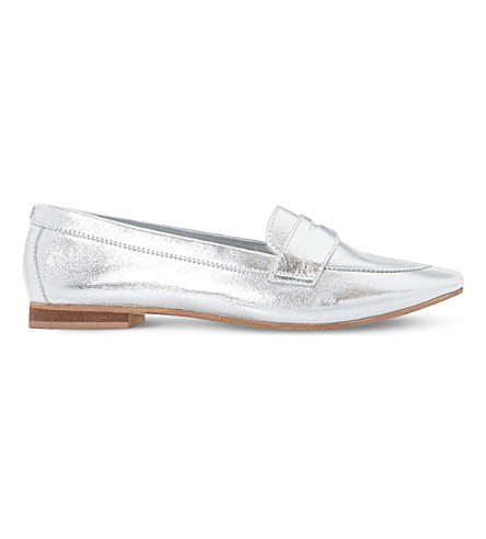 DUNE Galer slip-on metallic-leather loafers