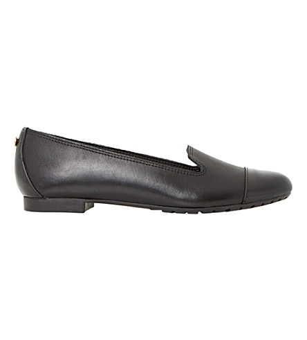 DUNE Geneveve patent toecap leather shoes (Black-leather