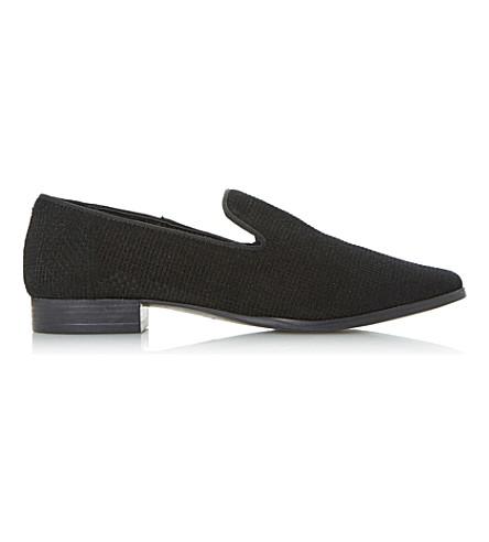DUNE Gafney suede loafers (Black-suede