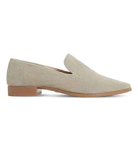 DUNE Gafney suede loafers (Taupe-suede