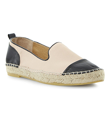 DUNE Lolled leather and suede espadrilles (Nude-leather