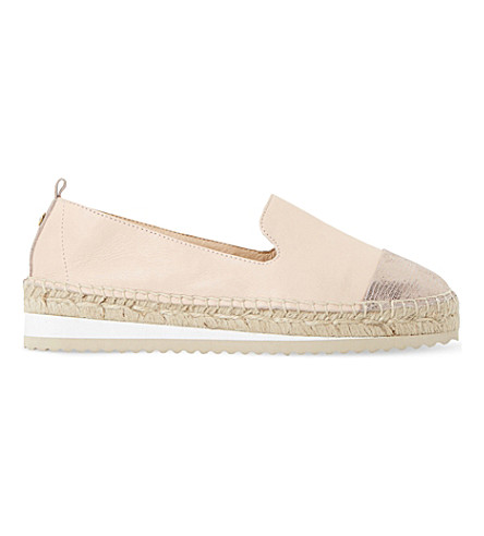 DUNE Guest leather metallic toe espadrilles (Nude-leather