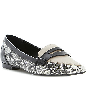 DUNE Lyndon pointed-toe leather loafers