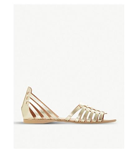 gladiator sandals leather metallic Gold DUNE DUNE Gili Gili leather xwfqagOSP
