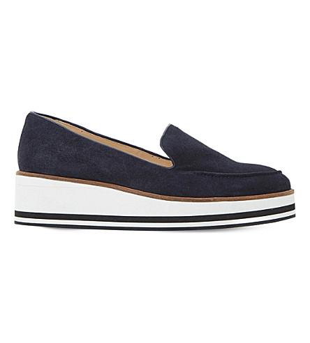 DUNE Genesis suede flatform shoes (Navy-suede