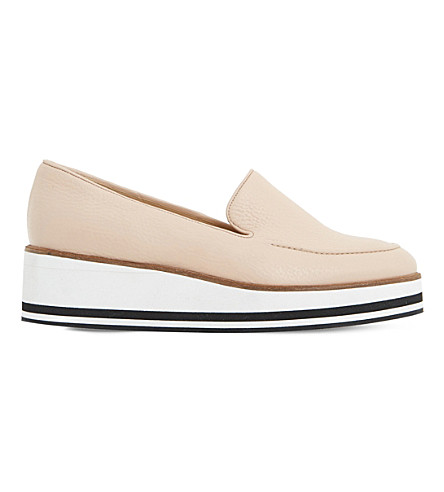 DUNE Genesis suede flatform shoes (Nude-leather