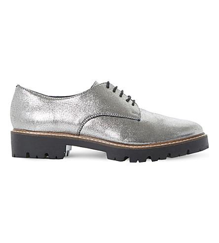 DUNE Furne metallic lace-up shoes (Pewter-metallic