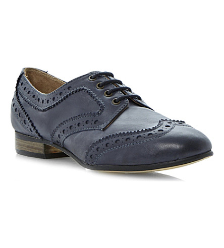 DUNE Linford leather brogues (Navy-leather