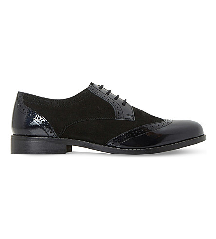 DUNE Foxxy leather brogues (Black-leather+mix
