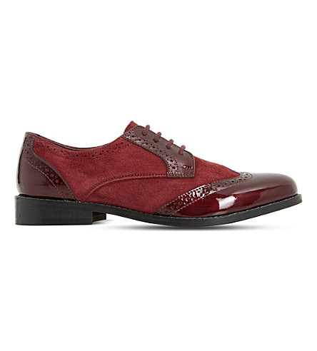 DUNE Foxxy leather brogues (Berry-leather