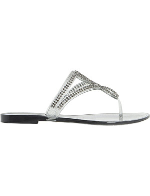 DUNE Jellyanne diamante-embellished jelly sandals