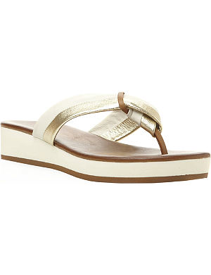 DUNE Jannys low wedge flip flop sandals