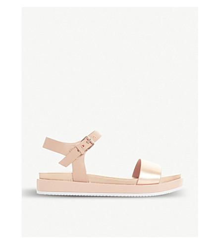 DUNE 凉鞋金属皮革 (玫瑰 + 金色)