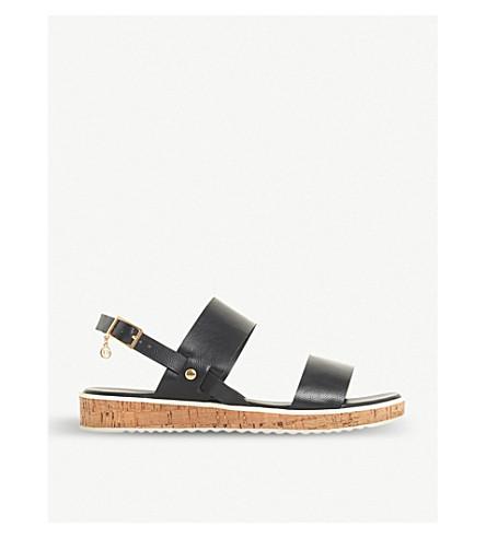 DUNE Luminere faux-leather sandals (Black
