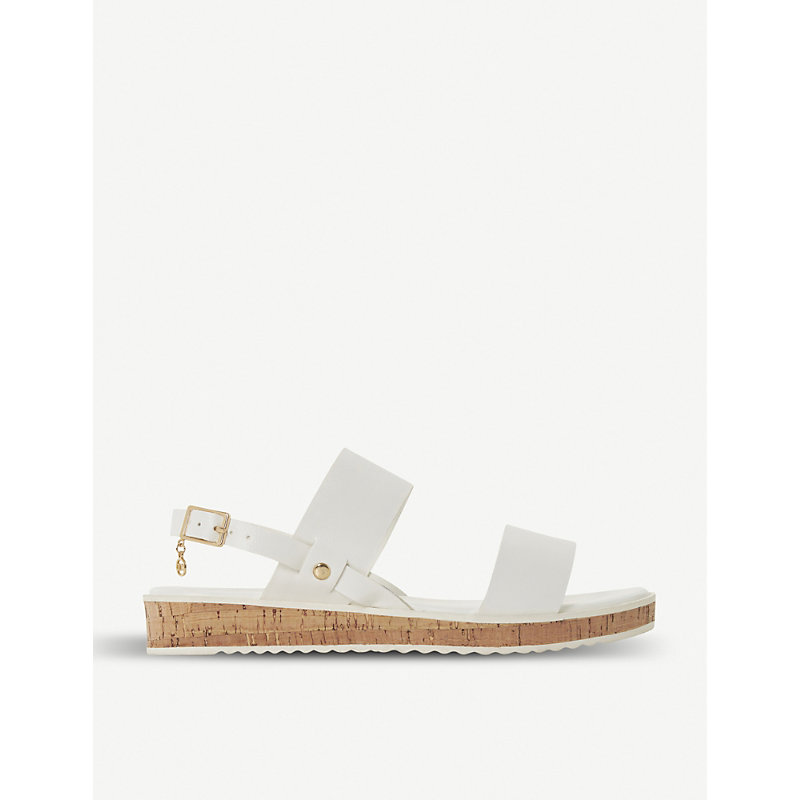 Luminere faux-leather sandals