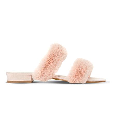 DUNE Lilliana fluffy sandal (Pink