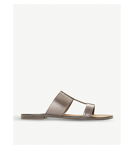 Llora double-strap metallic sandals