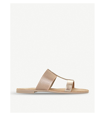 DUNE Llora double-strap metallic sandals (Rose+gold-synthetic