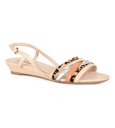 DUNE Jimmo wedge sandals (Blonde-leather