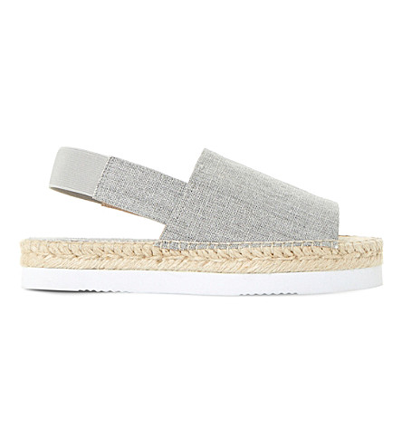 DUNE Lucindie canvas espadrille sandals (Taupe-canvas