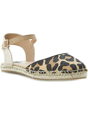 DUNE Jessee leather espadrille sandals