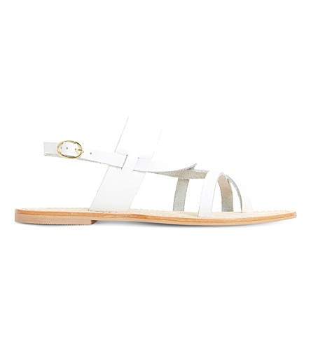 DUNE Luccia strappy sandals (White-leather