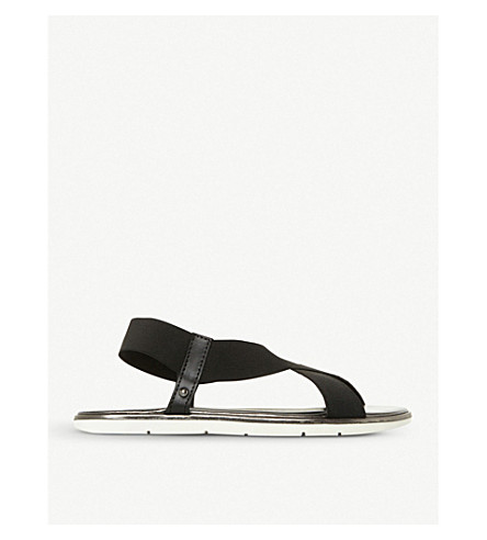 DUNE Linke cross-strap sandals (Black-synthetic