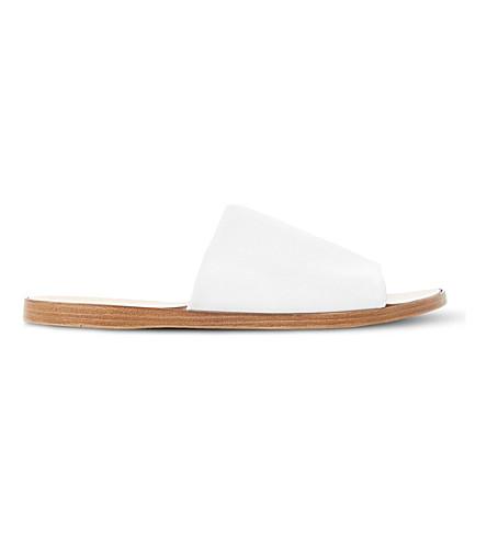 DUNE Leny 皮革穆勒鞋 (白色皮革